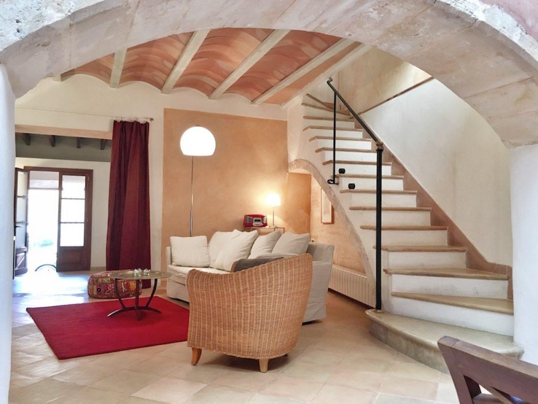 Casa Escala - die Treppe zum Obergeschoss.
