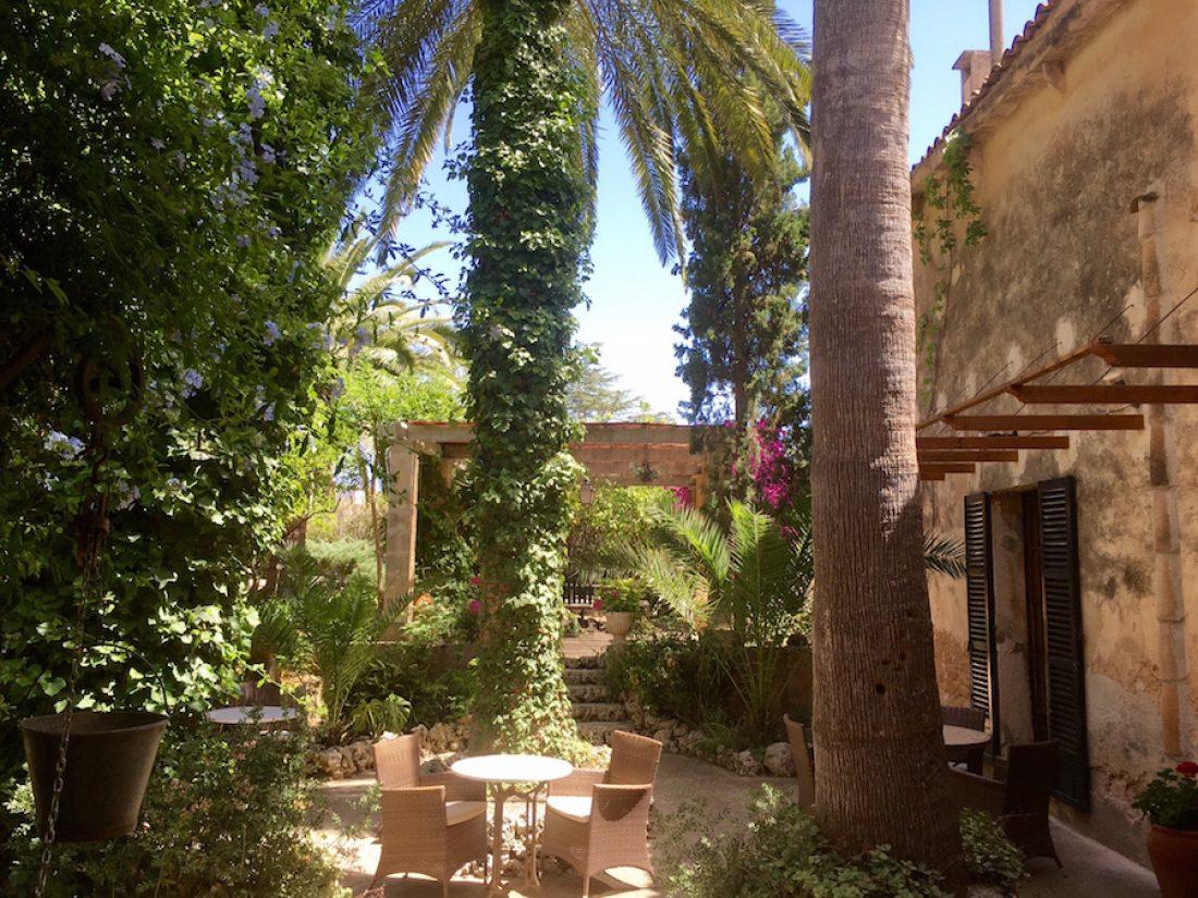 The breakfast terrace