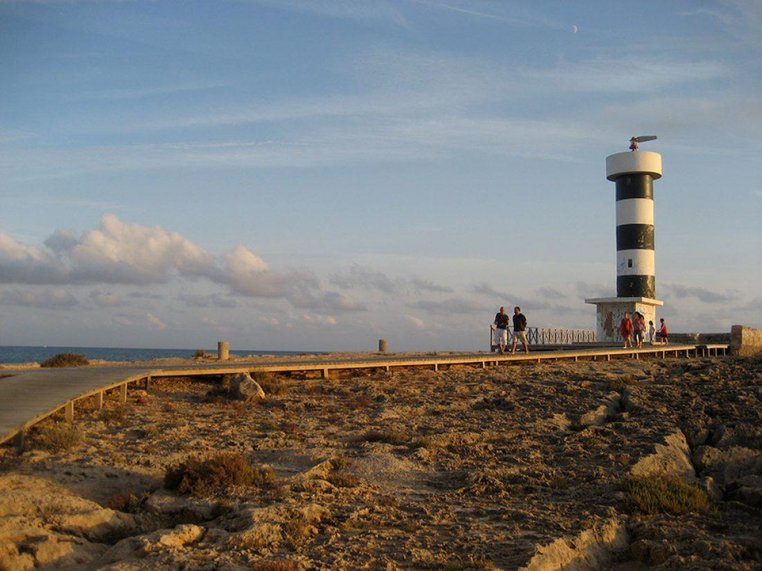 Faro en el sur de Mallorca.