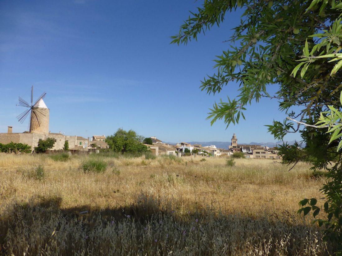 Vista panoramica al pueblo Algaida.