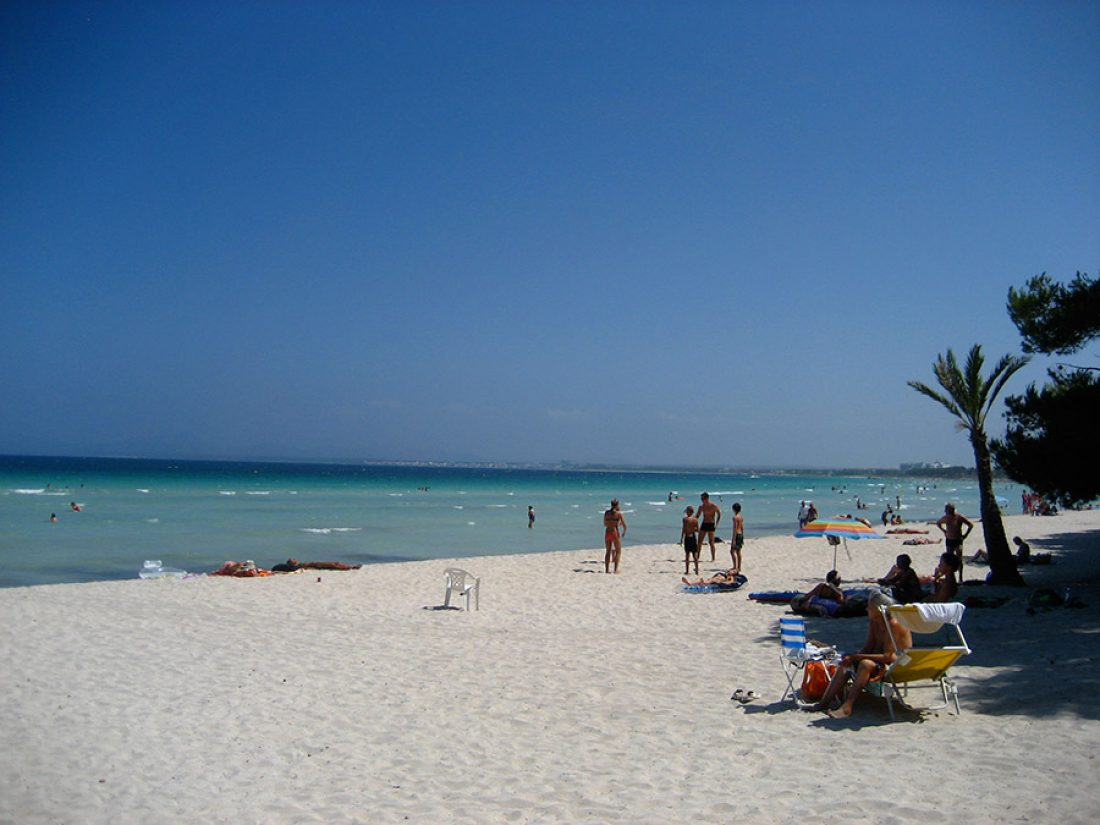 White sands at the beach