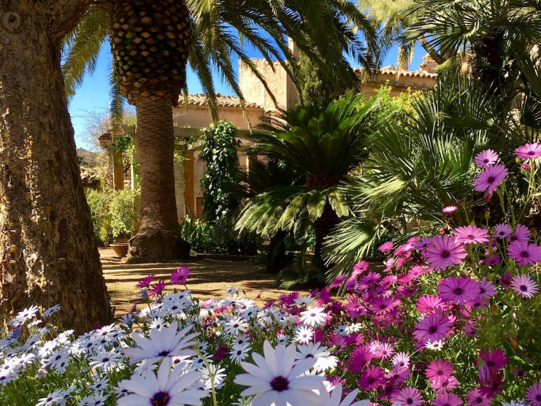 The beautiful garden of our boutique hotel