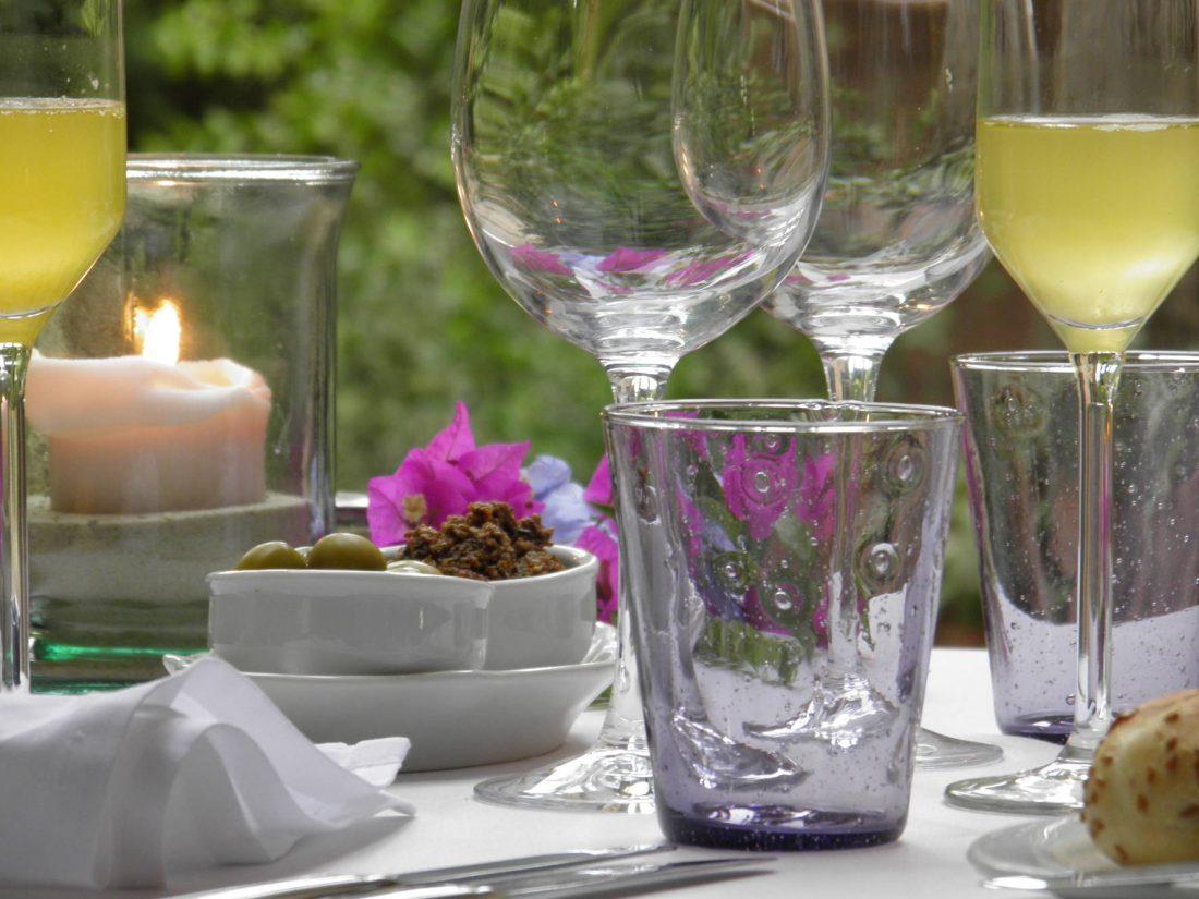 Abendessen auf der Terrasse