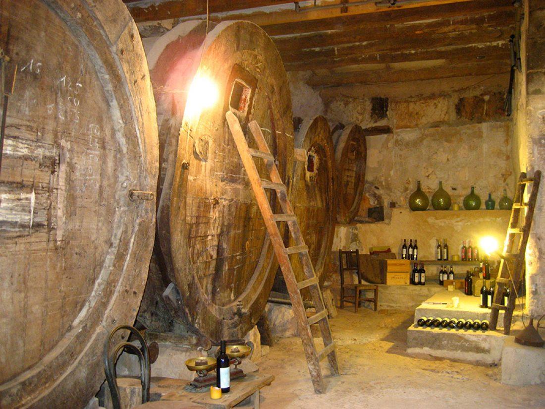Finca Raims - the wine cellar